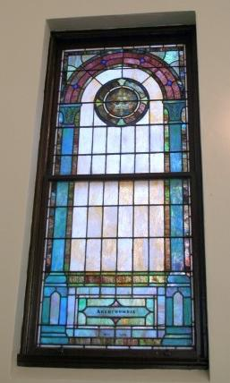 Mt Zion UMC Stained Glass Window Abercrombie Family
