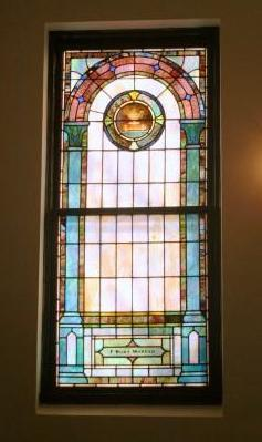 Mt Zion UMC Stained Glass Window F. Burton Morgan Family Lamp