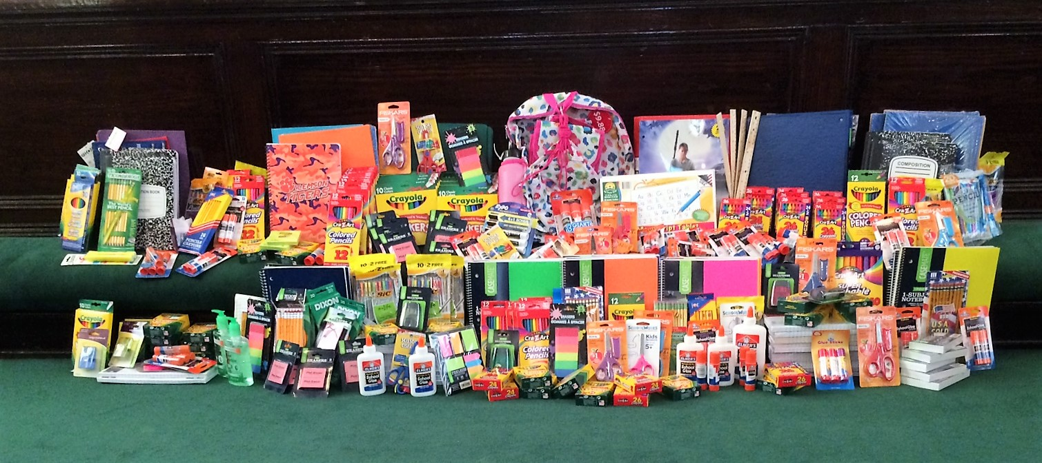 School Supplies Collected 2016