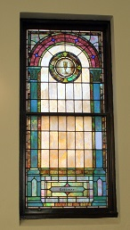 Mt Zion UMC Stained Glass Window Gassaway Family Chalice