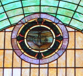Anchor symbolizing salvation through the cross Mt Zion Stained Class