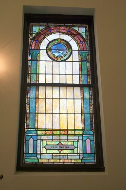 Mt Zion UMC Stained Glass Window Faye Dobson Ark of Noah
