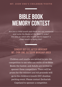 Bible Book Memory Competition
